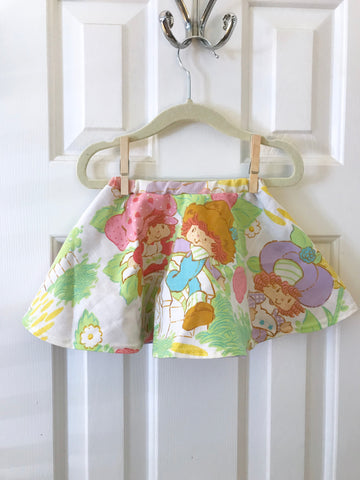 #24 Strawberry Shortcake Vintage Skirt  || 6-12m