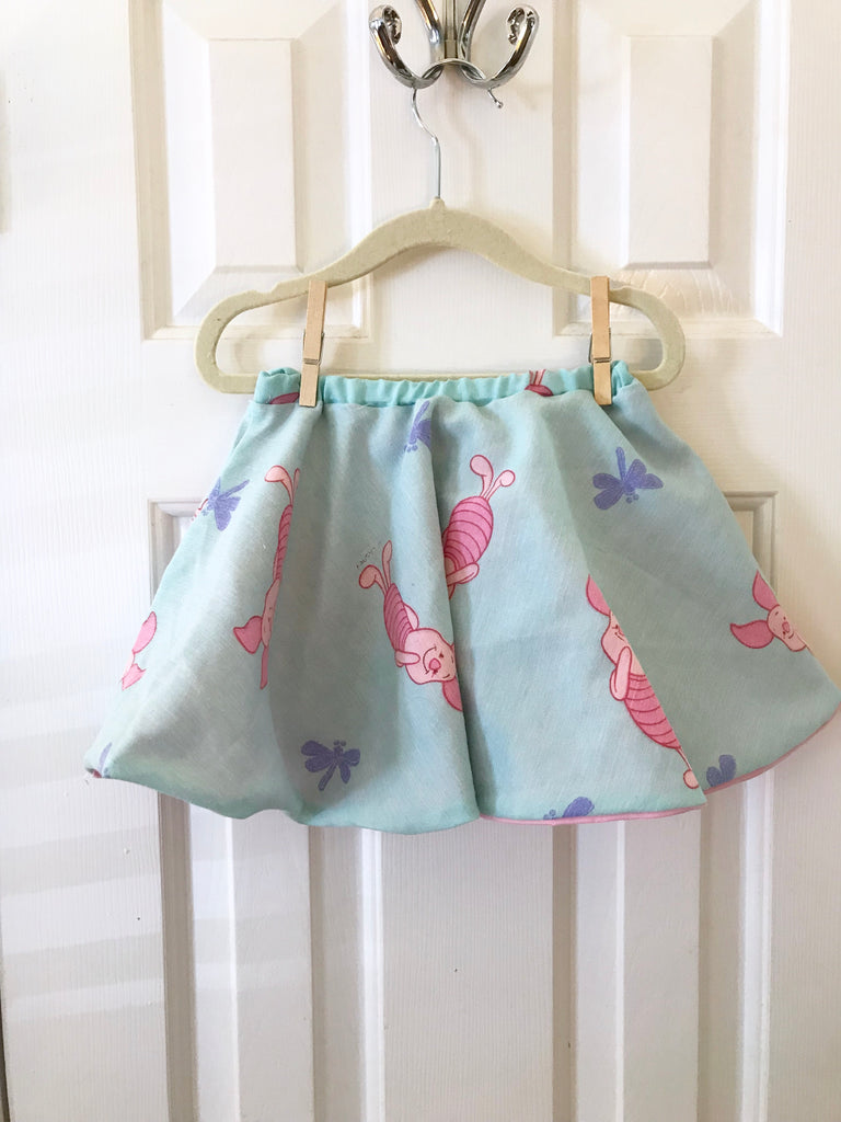#8 Piglet Vintage Skirt  || 2-3t || **Imperfect**