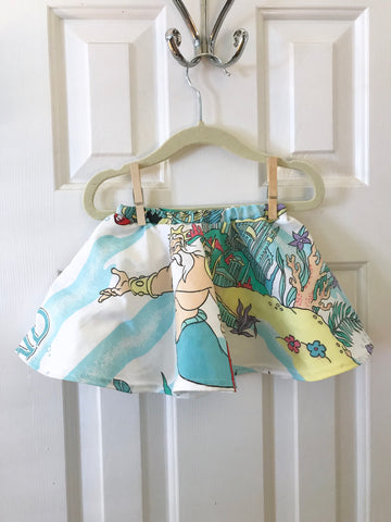 #22 Little Mermaid Vintage Skirt  || 6-12m