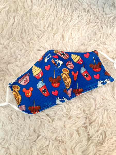 Royal Blue Park Snacks Face Mask