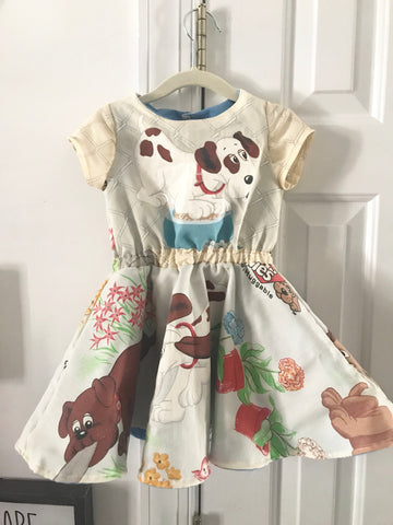 Vintage Pound Puppies Dress || 3-4t