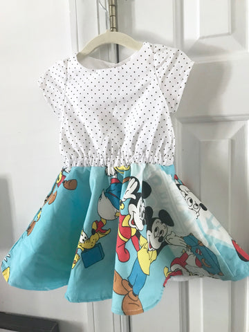 Vintage Magic Kingdom Dress || 2-3t
