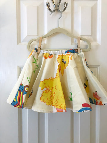 #31 Sesame Street Big Bird Vintage Skirt || 2-3t || **Imperfect**