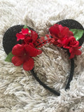 Red Mouse Ears // One-of-a-kind Floral Crown