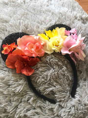 Light Sunset Mouse Ears // One-of-a-kind Floral Crown