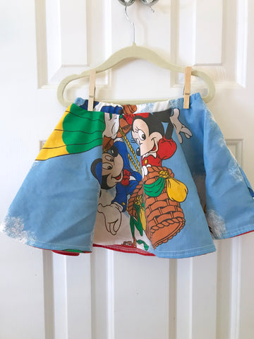 #55 Disney Friends Vintage Skirt || 2-3t