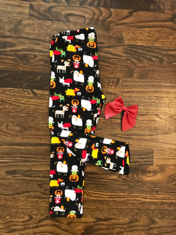 FLASH SALE! || Dogs in Costumes Cotton Knit Leggings