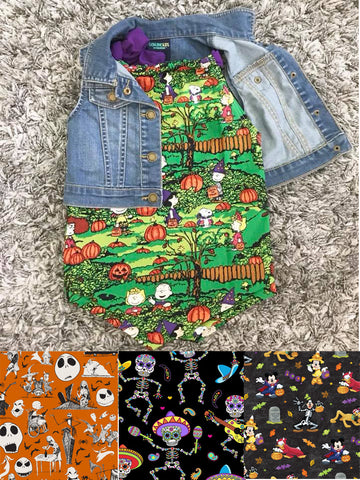 Halloween Non-Stretch Romper || Pick Your Print!