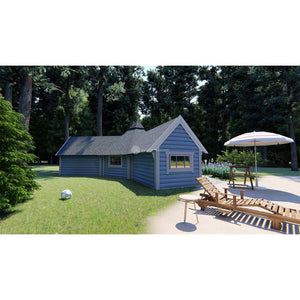 (9.2 m² + 2 extensions) Small Camping Cabin