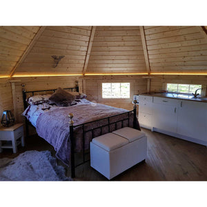 (16.5 m² + 2 extensions) Large Glamping Cabin