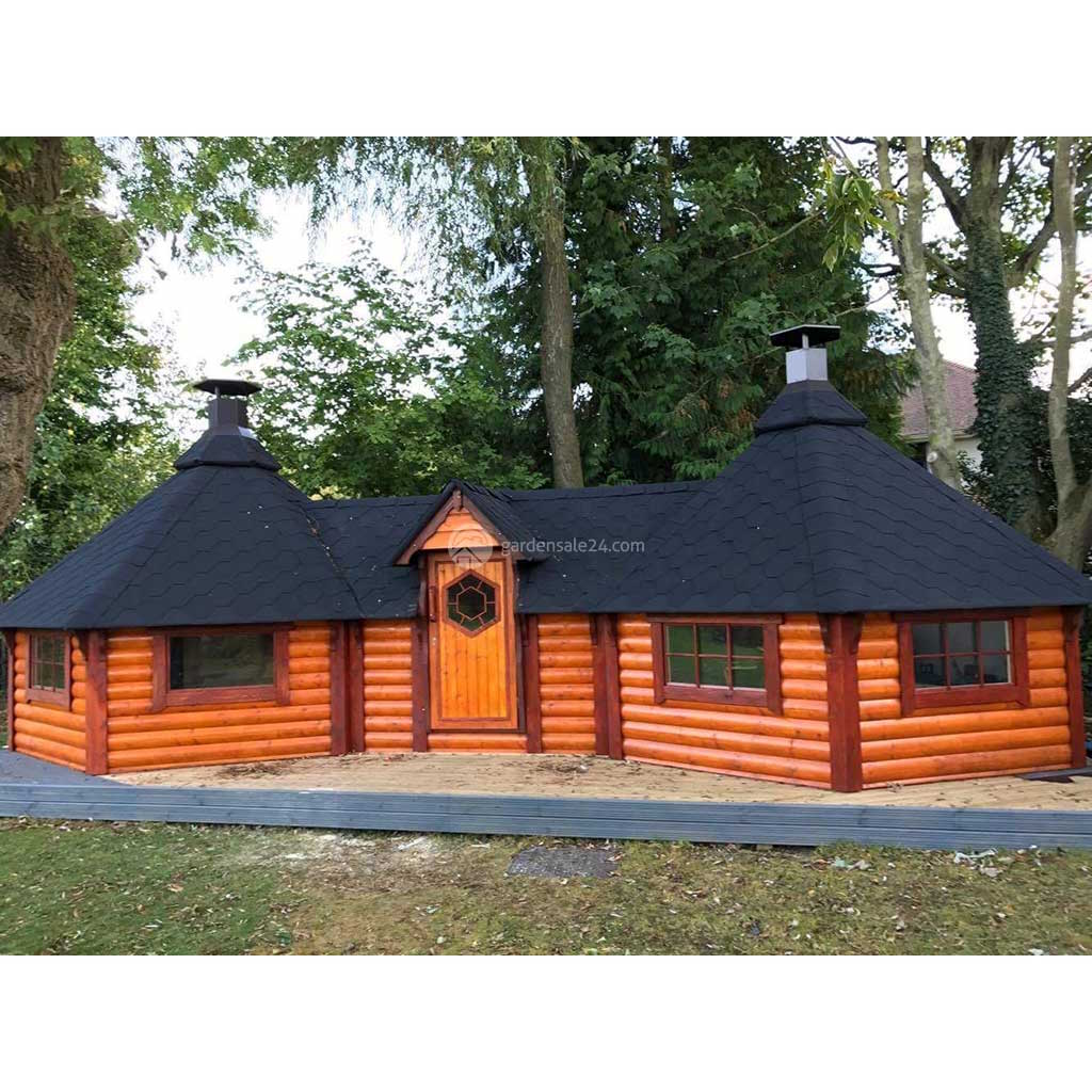 (9.2 m² + 9.2 m²) Small Double Grill Cabin