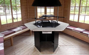 """Luxury"" Grill & Chimney Set For BBQ Huts"