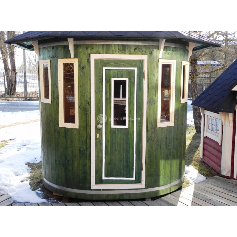 Upright Barrel Sauna