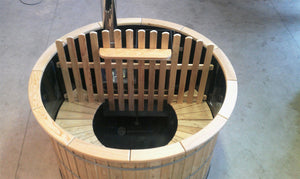 Wooden Hot Tub Made With Plastic Inside