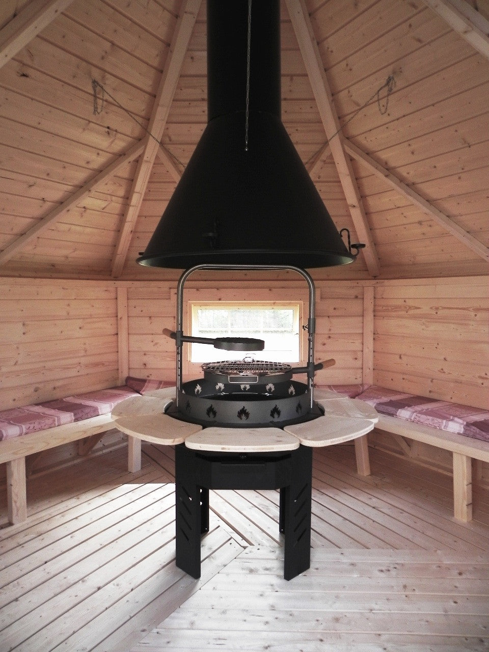 """Viking"" (Valentino)  Grill & Chimney Set For BBQ Huts"