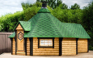 amazing highest quality garden hut with sauna inside