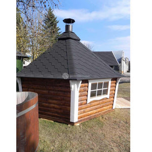 (9.2 M²) Small BBQ Hut With Sloping Walls