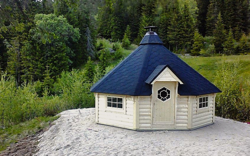 Magnificent large finnish bbq hut for sale for Garden hut sale