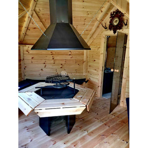 (9.2 m² + Sauna Extension) Small BBQ hut