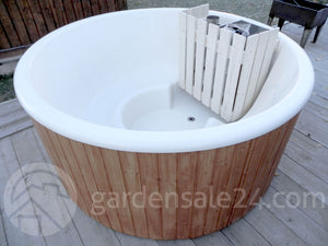 Modern Wood Fired Hot Tub Ø 1.8 m