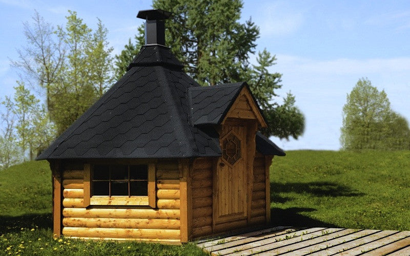 cheap wooden barbecue huts to buy online