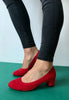 red court shoes