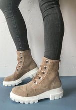 Load image into Gallery viewer, taupe biker boots