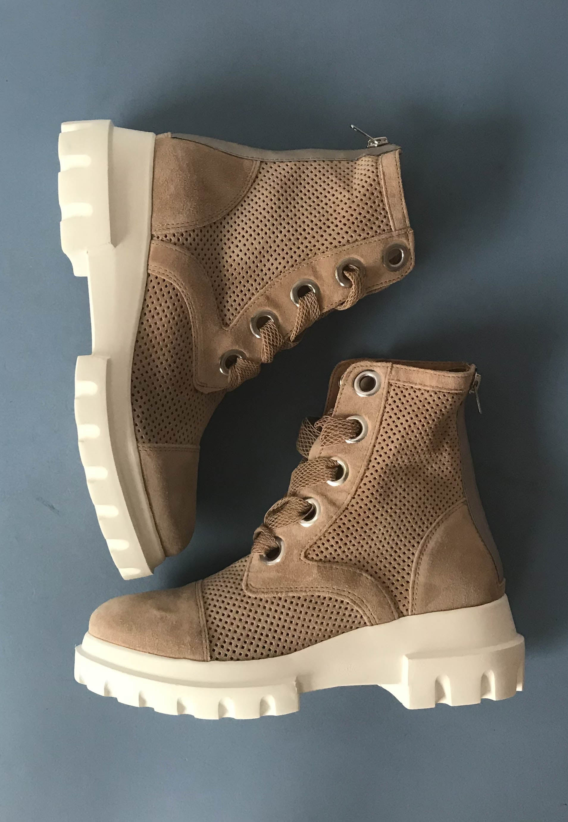 taupe lace up boots alpe