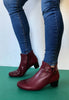 red ankle boots Gabor