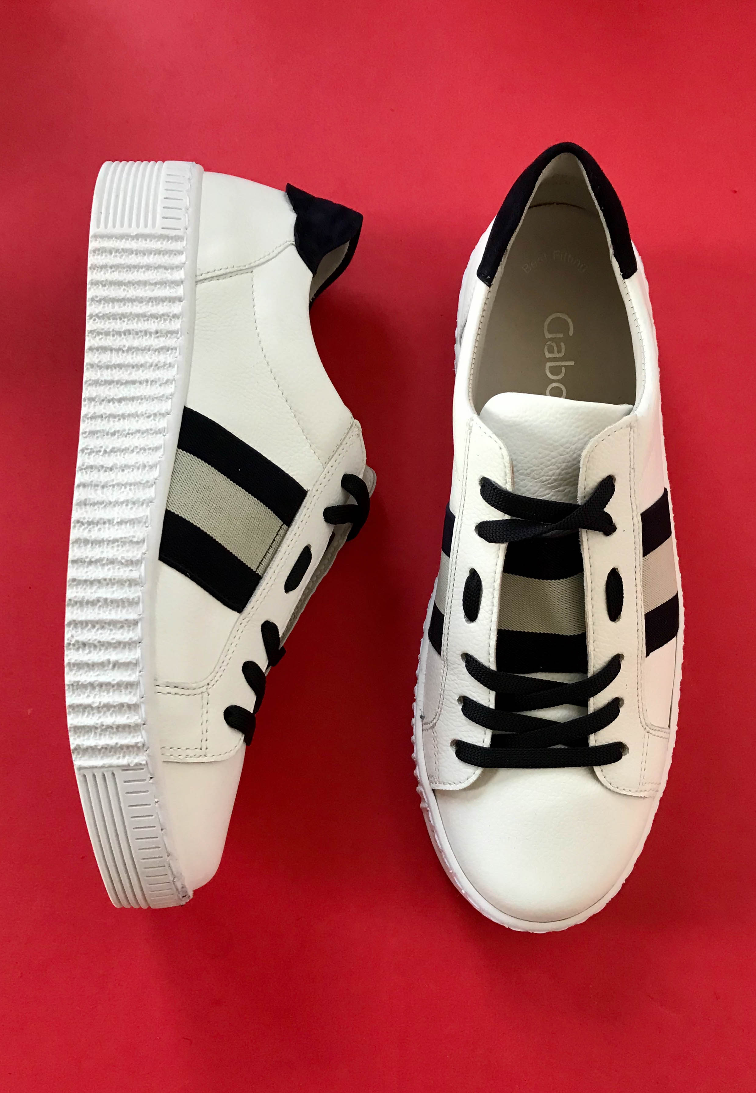 white leather trainers gabor