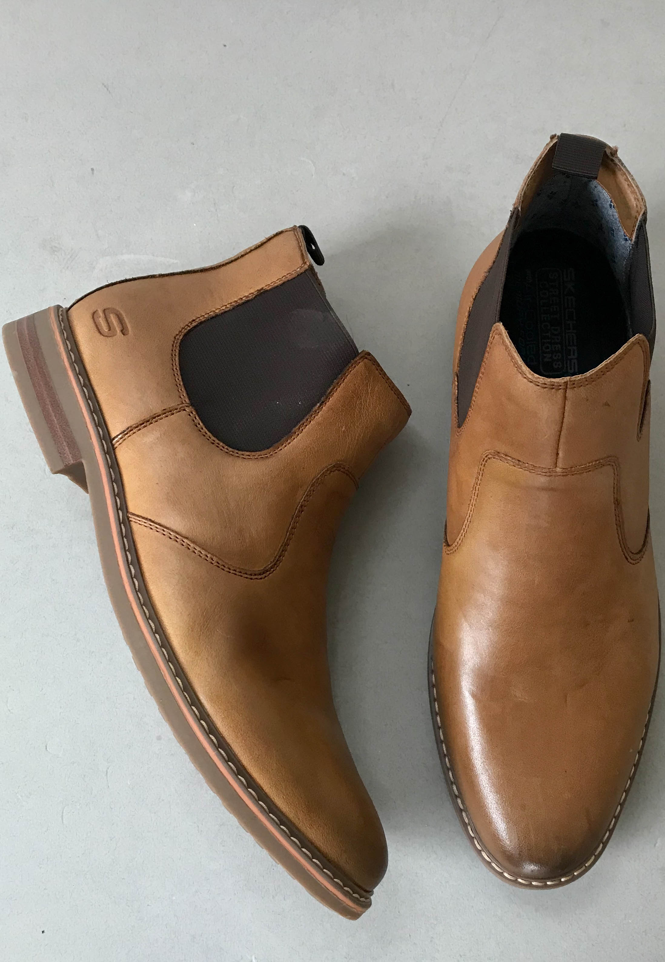 slip on mens boots