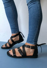 Load image into Gallery viewer, gladiator sandals black
