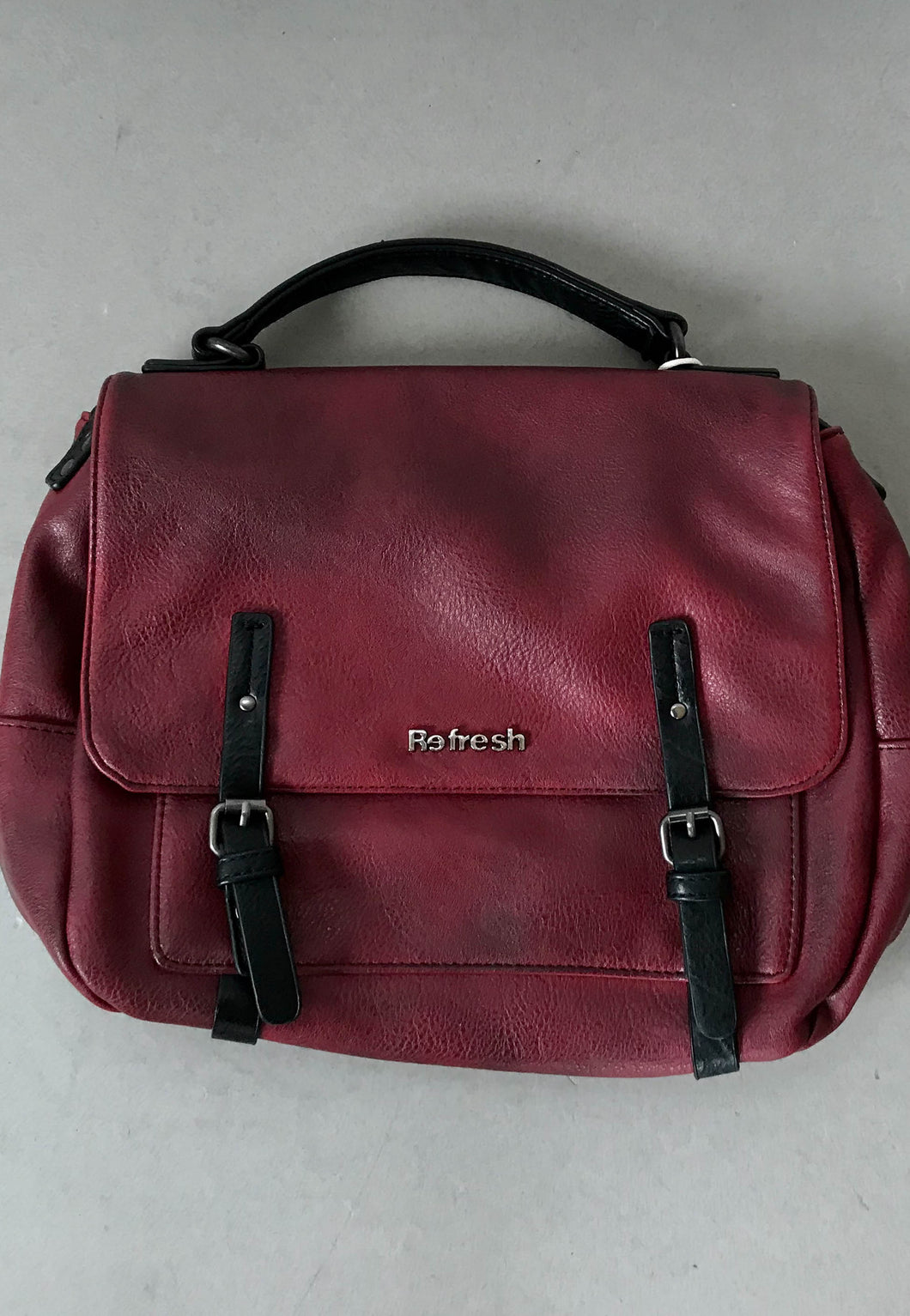 red hand bags