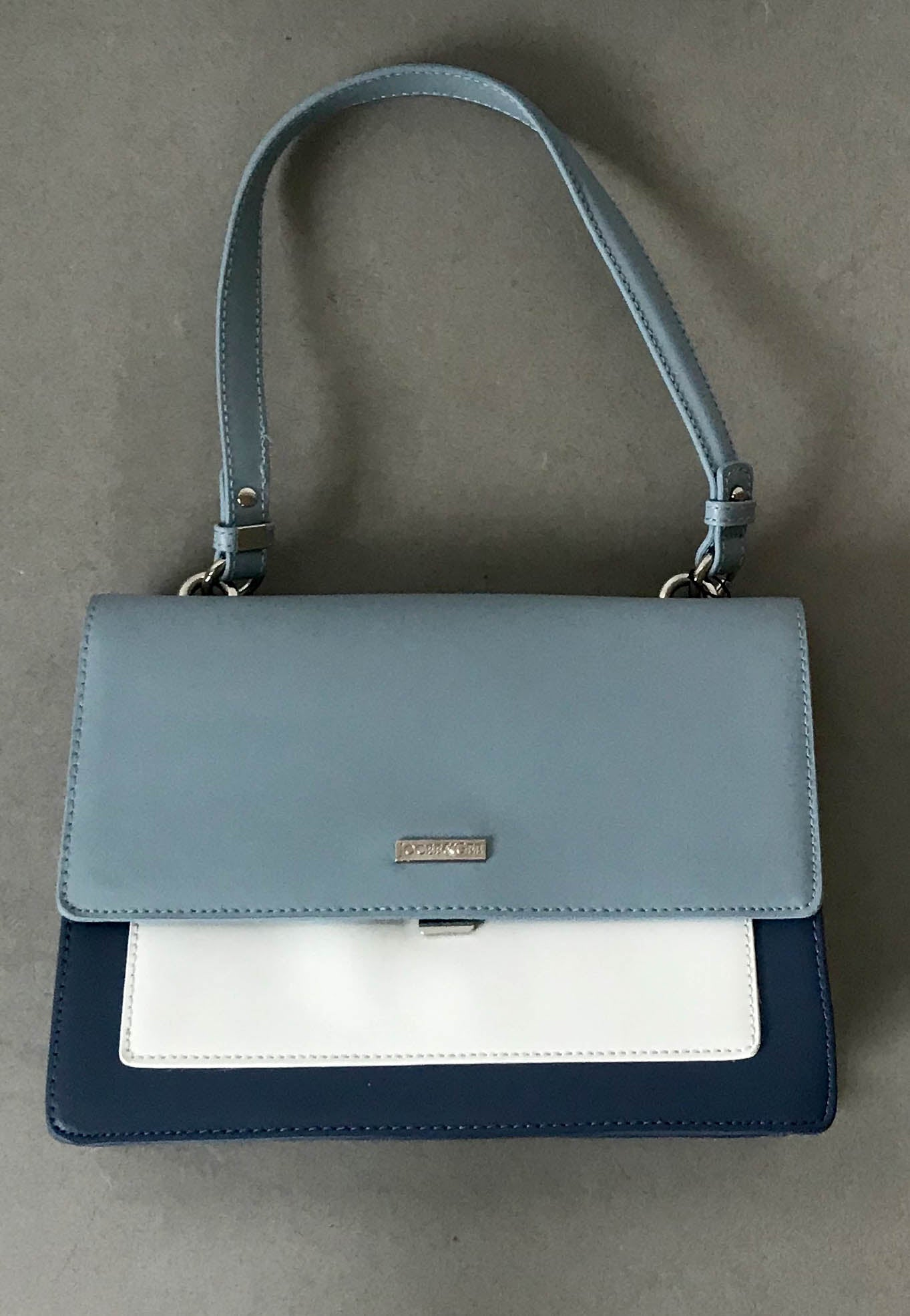 blue hand bags