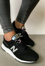 Load image into Gallery viewer, black new balance trainers women