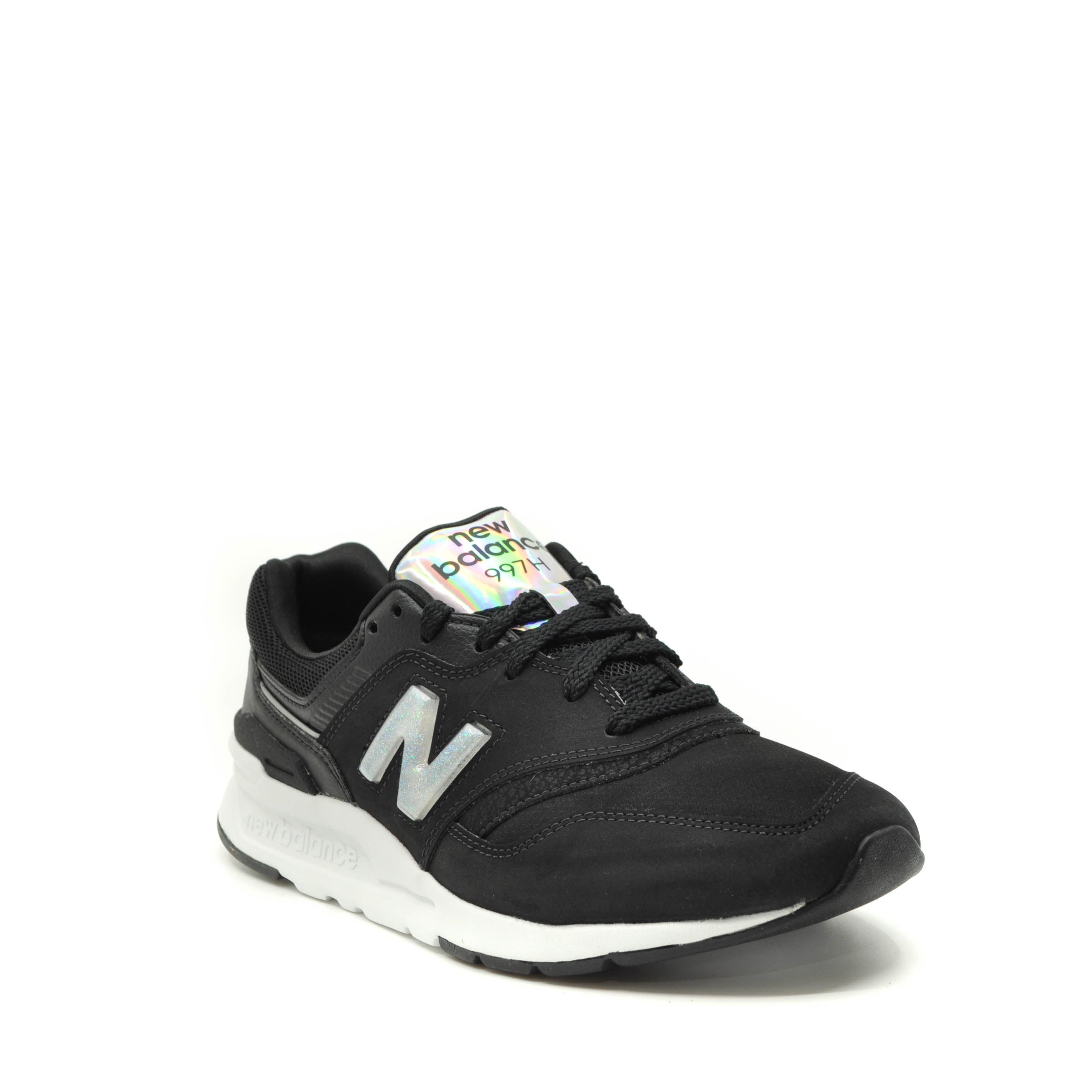 ladies black new balance trainers
