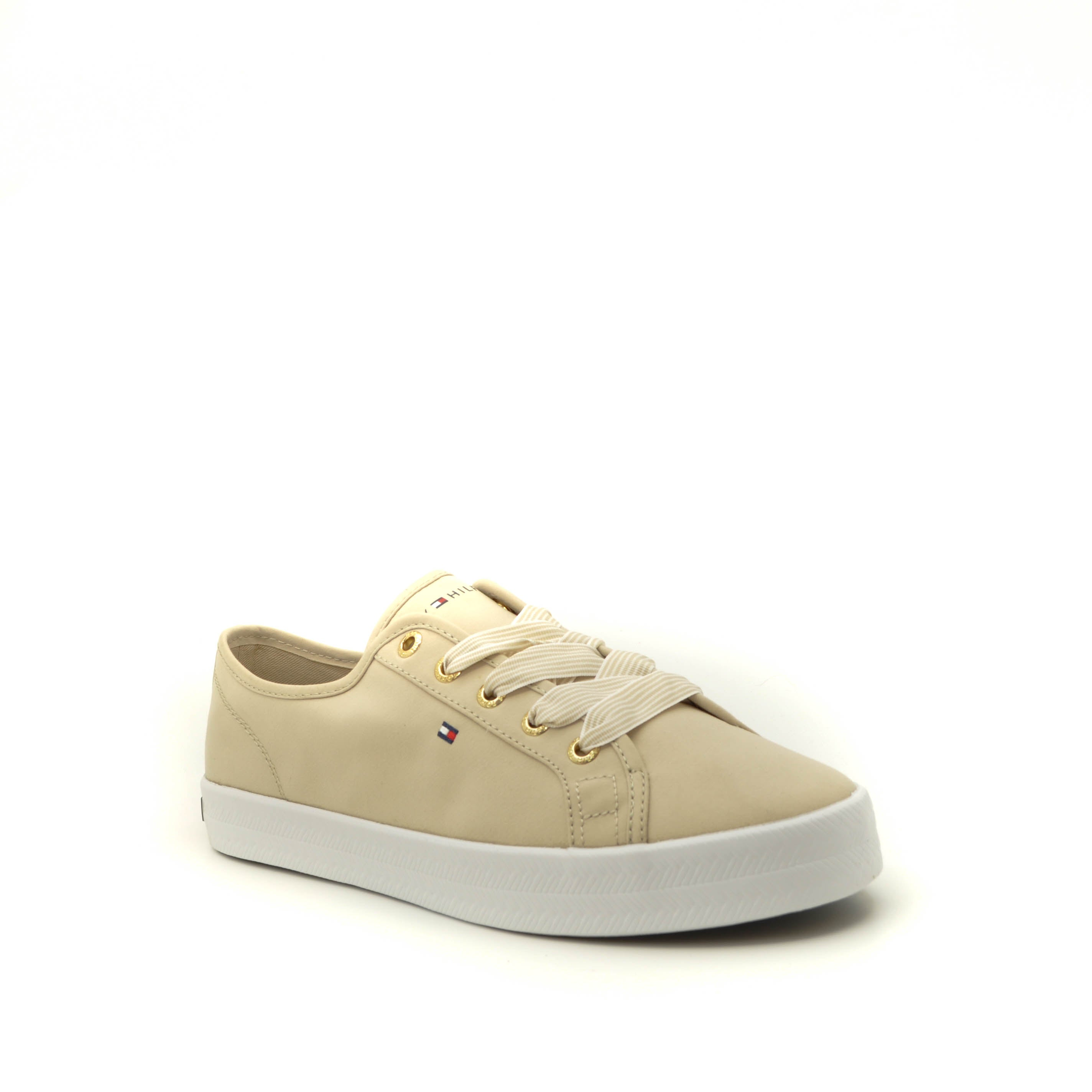 lace up shoes tommy hilfiger beige