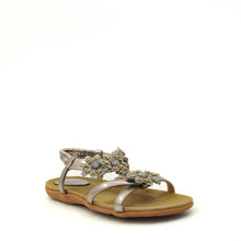 Load image into Gallery viewer, womens flat sandals pewter