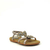womens flat sandals pewter