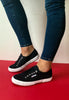 navy trainers superga