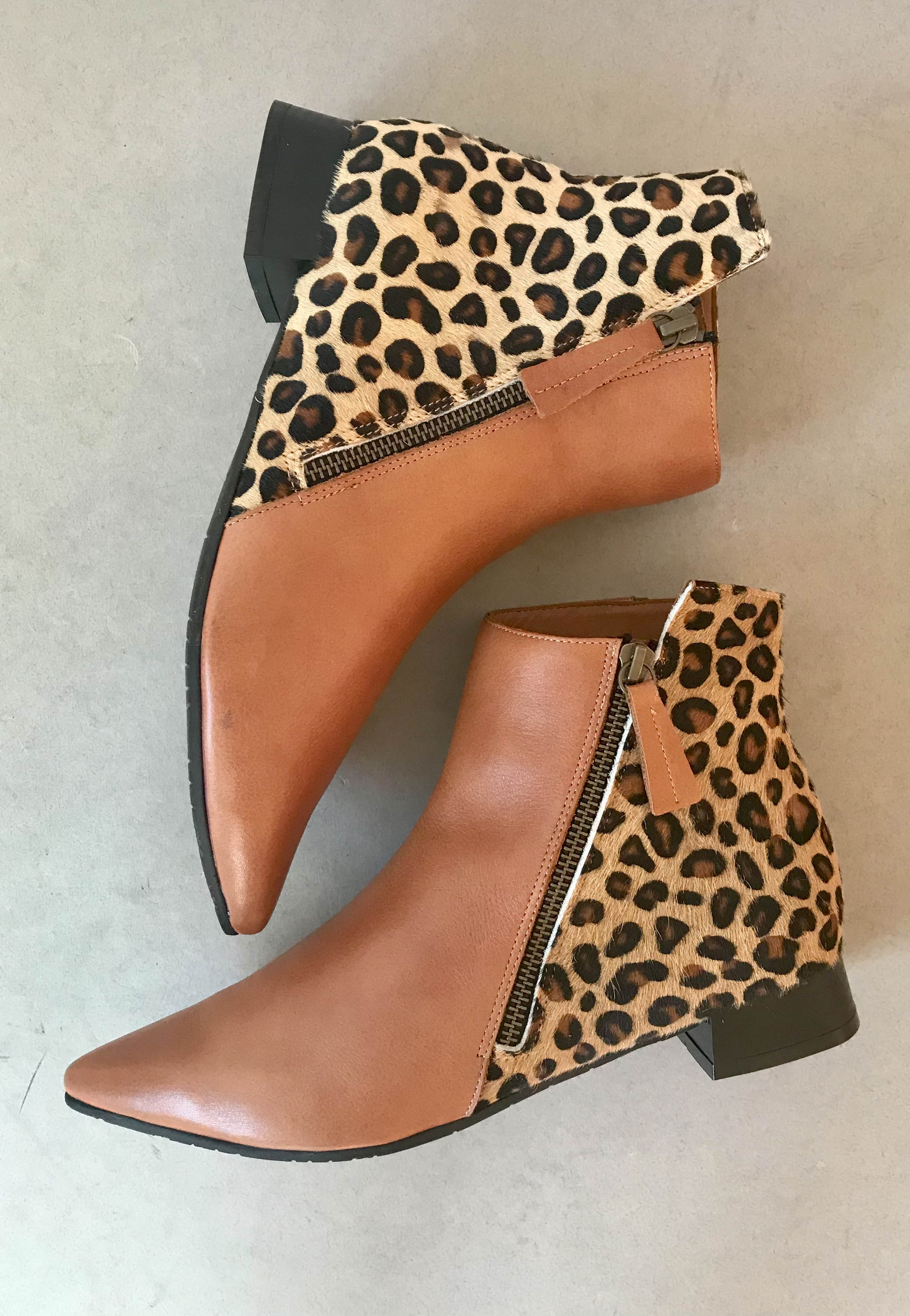 leopard print Ankle boots bueno