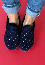 Load image into Gallery viewer, womens slippers navy