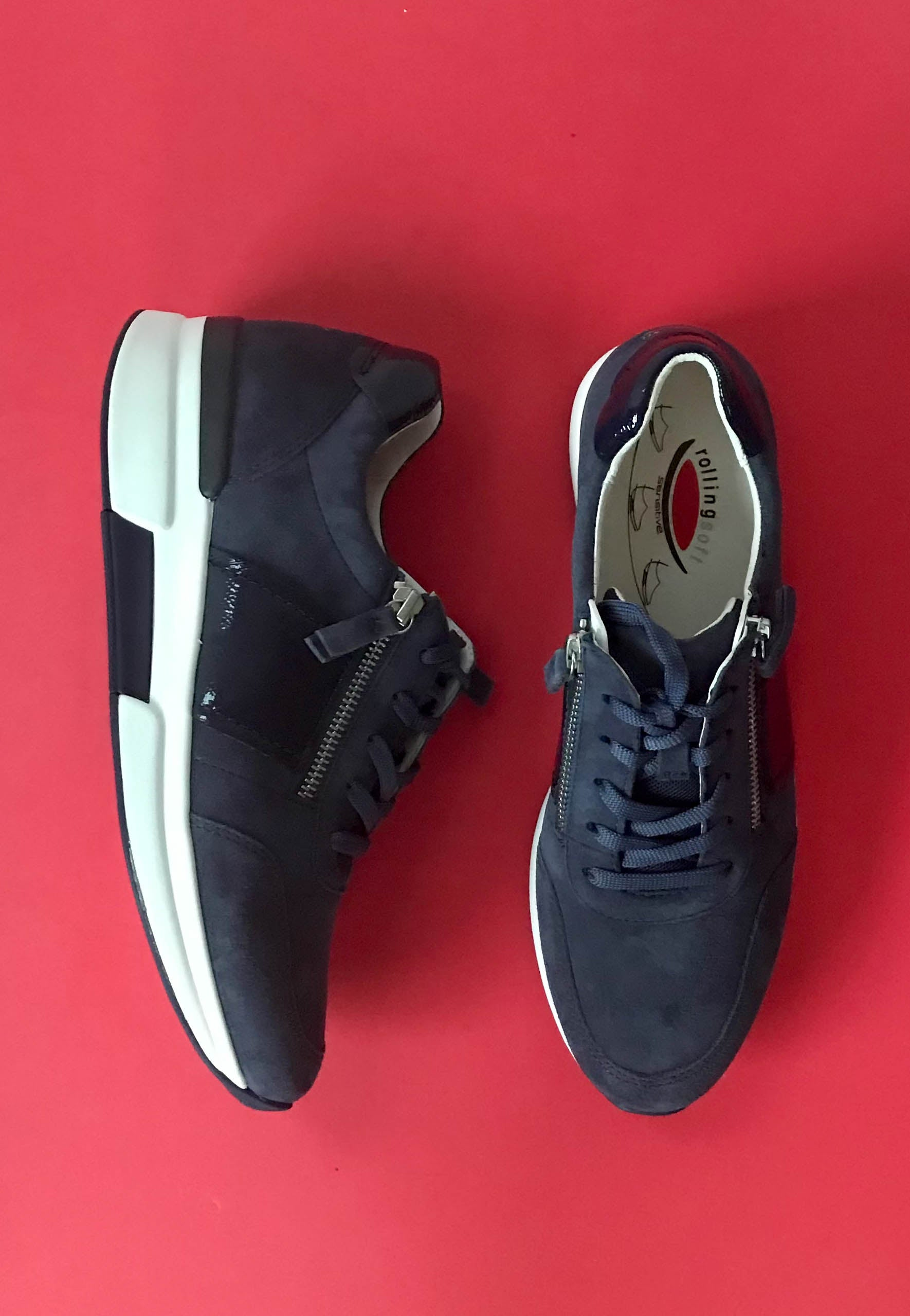 gabor navy trainers