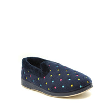 Load image into Gallery viewer, ladies slippers navy