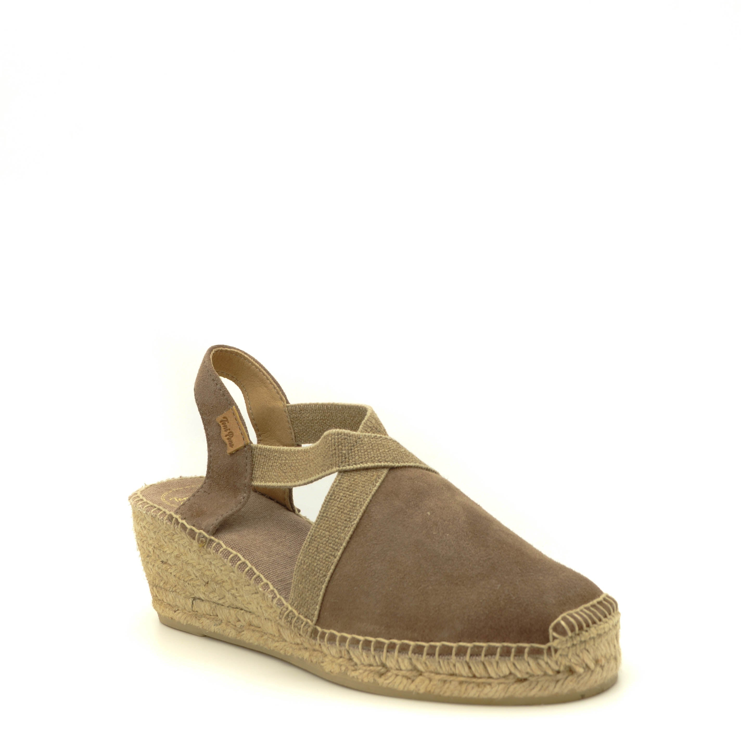 taupe wedge espadrille