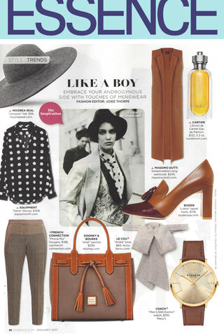 Le Cou Olympia dickey shirt pussy bow Essence Magazine, Menswear inspired accessories
