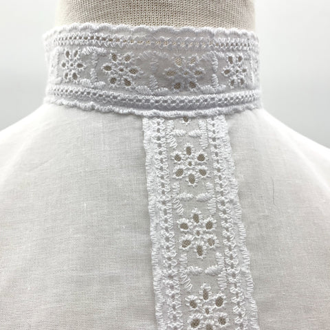 Agnes Lace Mock Collar Chemisette in White