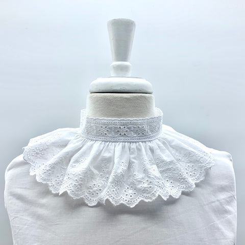 Nicolette Large Frill Collar Chemisette in White