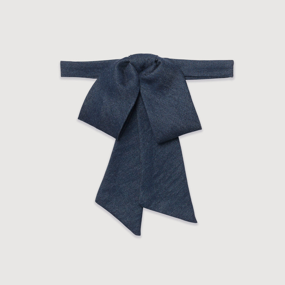 Bow, bowtie, Anika, Denim, Pre-tied, One size, stylish