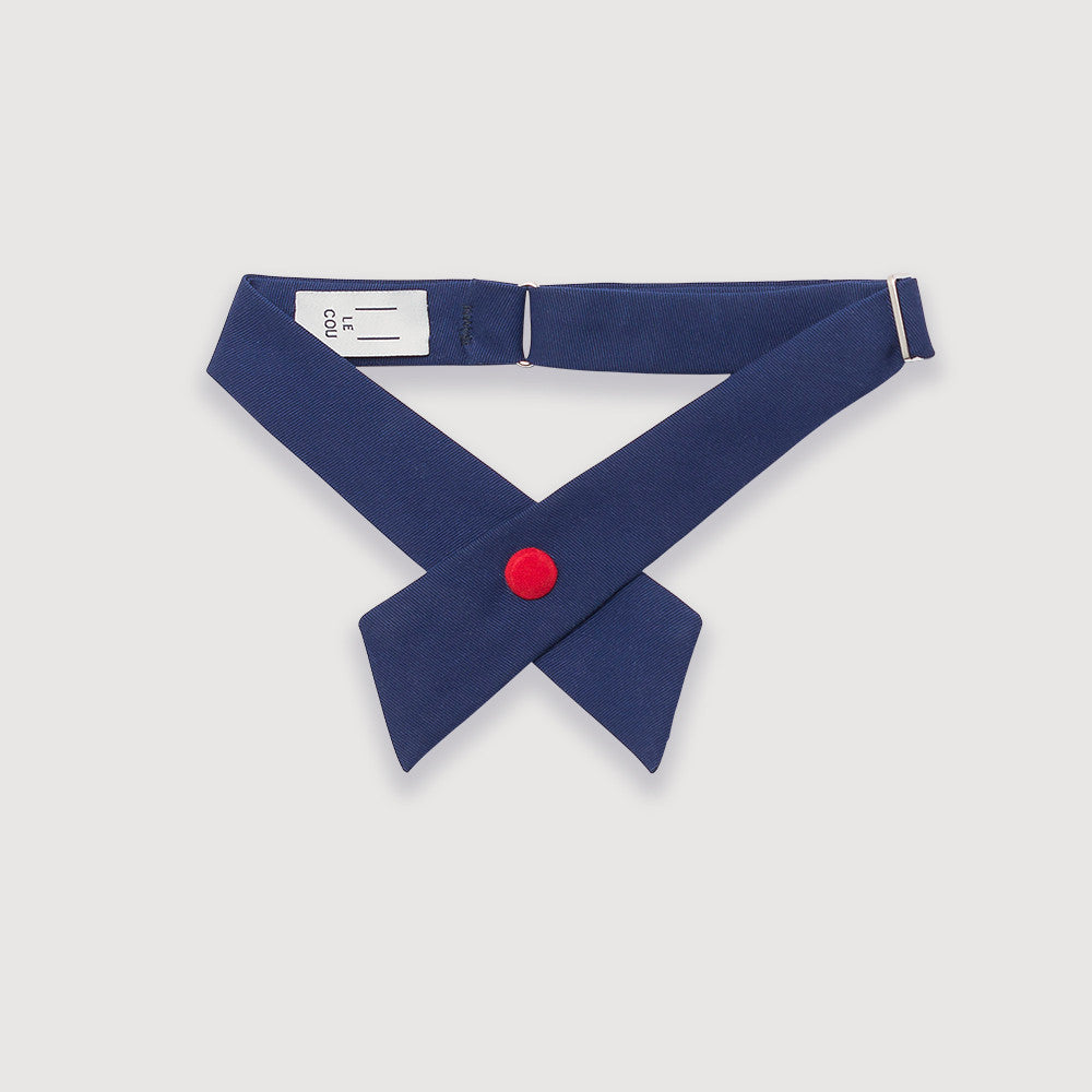 Le Cou, bow tie, bow, blue, red snap, women